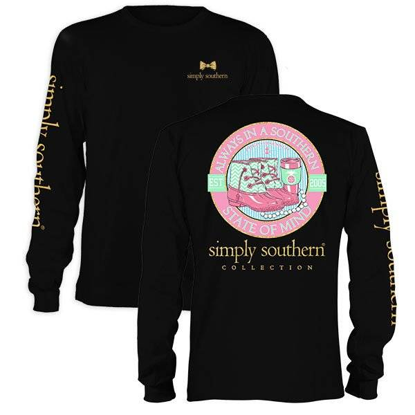 SS Simply Southern Southern State of Mind Long Sleeve Tee