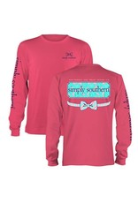 SS Simply Southern Floral Logo Long Sleeve Tee