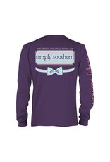 SS Simply Southern Elephant Logo Long Sleeve Tee