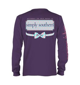 SS Simply Southern L/S Elephant Logo Tee