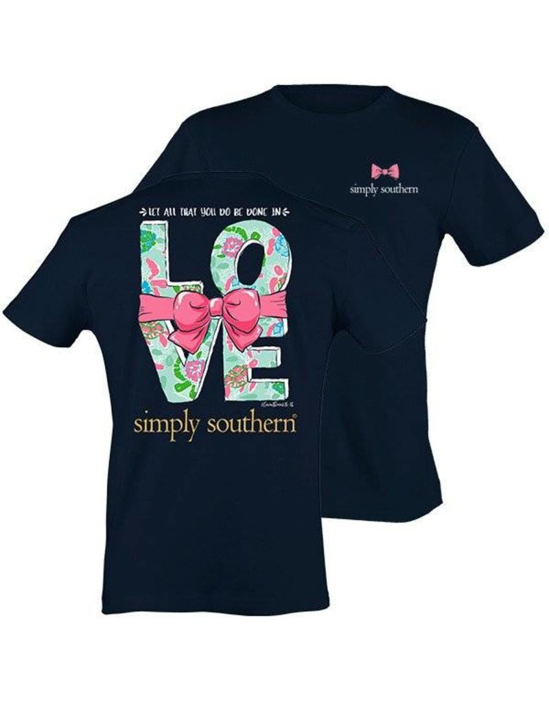 """SS Simply Southern """"Love"""" Short Sleeve Tee"""