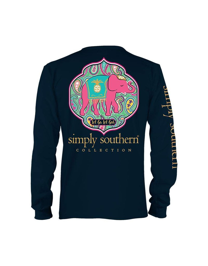 "SS Simply Southern ""Let God"" Long Sleeve Tee"