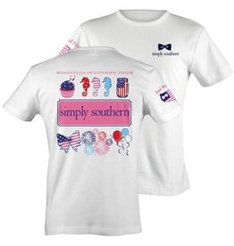 SS Simply Southern S/S Tee- Patriotic
