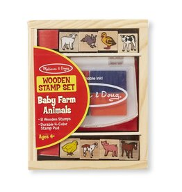 Melissa and Doug M&D Wooden Stamp Set- Baby Zoo & Baby Farm