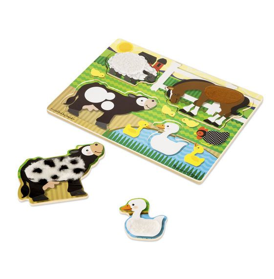 Melissa and Doug Melissa & Doug Touch & Feel Farm Puzzle