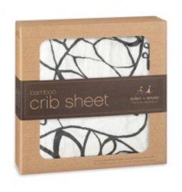Aden + Anais Bamboo Crib Sheet- Moon Leafy