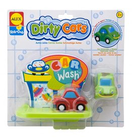 ALEX toys ALEX RubaDub Tub Stickers- Dirty Cars