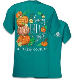 Southern Couture S/S Happy Fall Yall Tee