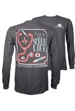 Southern Couture Southern Couture Long Sleeve Scrub Life Tee