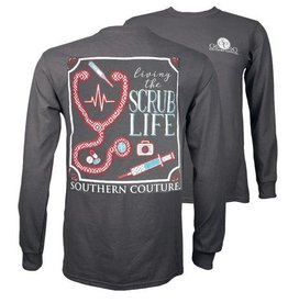 Southern Couture SC L/S Tee-  Scrub Life