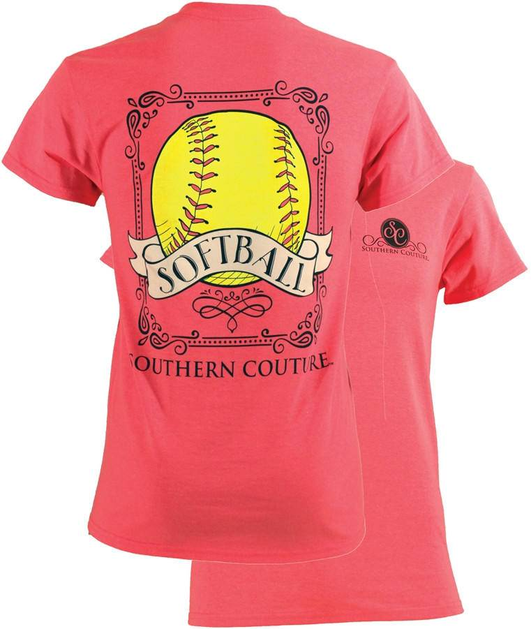 Southern Couture Southern Couture Short Sleeve Vintage Softball Tee