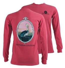Southern Couture SC L/S Tee- Sunset Pelican