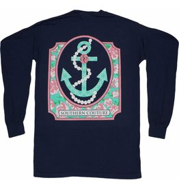 Southern Couture SC L/S Tee- Pearl Anchor