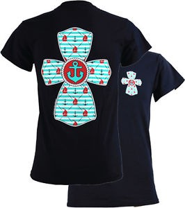 Southern Couture Southern Couture Short Sleeve Nautical Cross Tee