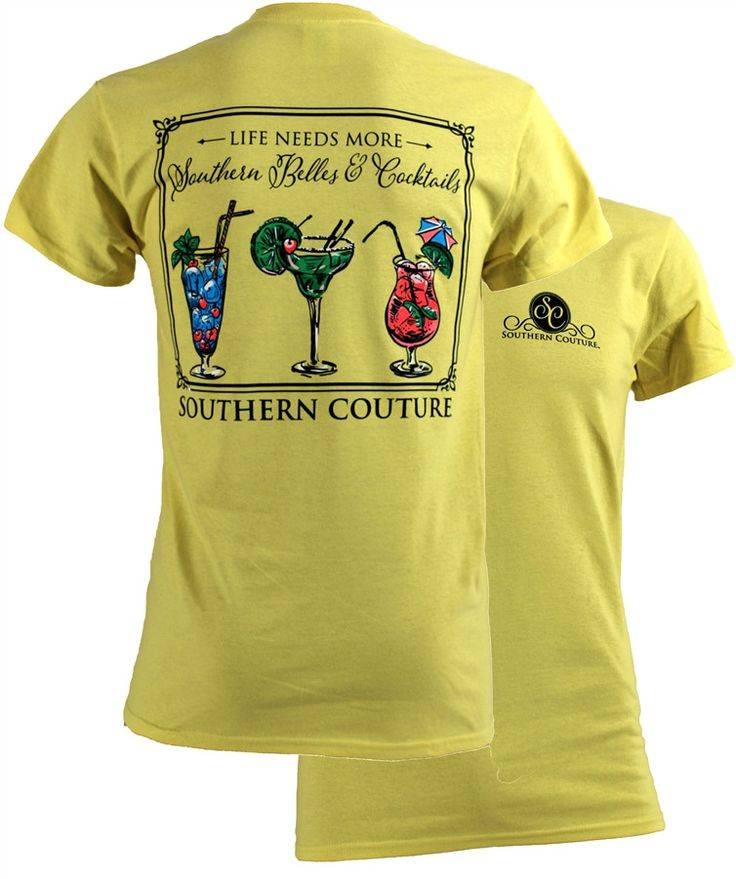 Southern Couture Southern Couture Short Sleeve Cocktails Tee