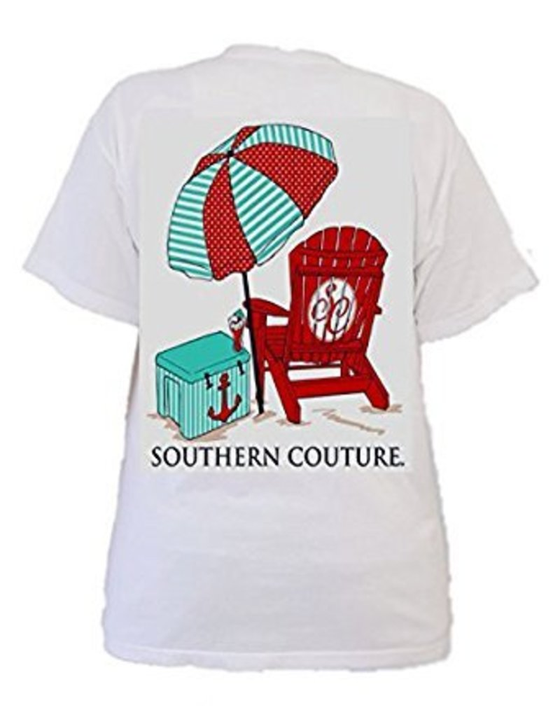 Southern Couture Southern Couture Short Sleeve Beach Chair Tee