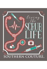 Southern Couture Southern Couture Short Sleeve Scrub Life Tee