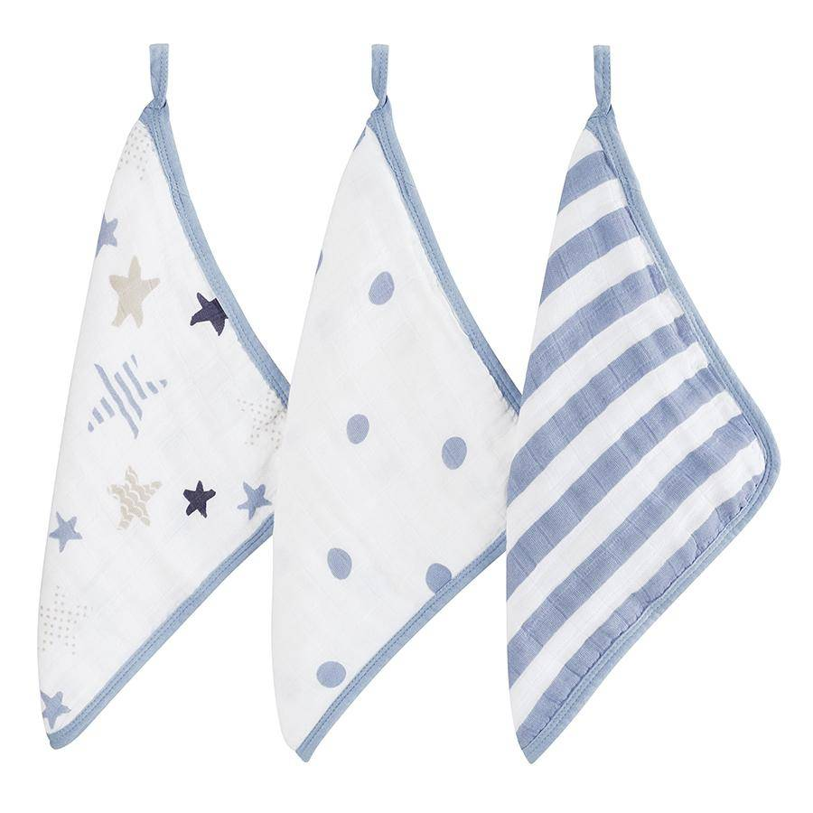Aden + Anais Aden + Anais 3 Pack Washcloth Sets