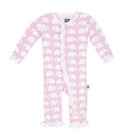 Kicky Pants Ruffle Coverall- Lotus Elephant