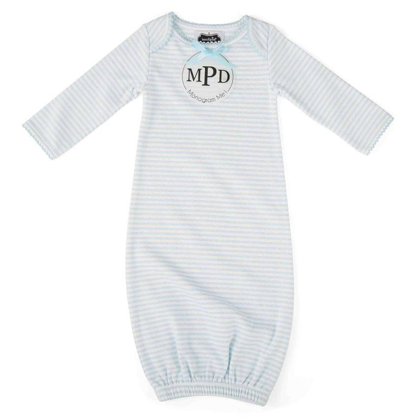 Mud Pie Blue Sleep Gown - Clementine Boutique