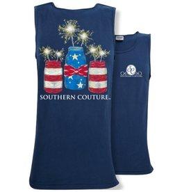 Southern Couture SC Tank- Mason Jar Sparklers
