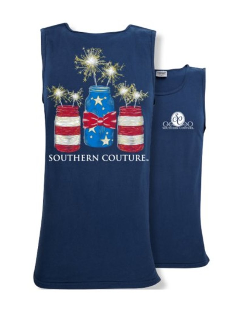 Southern Couture Southern Couture Tank- Mason Jar Sparklers