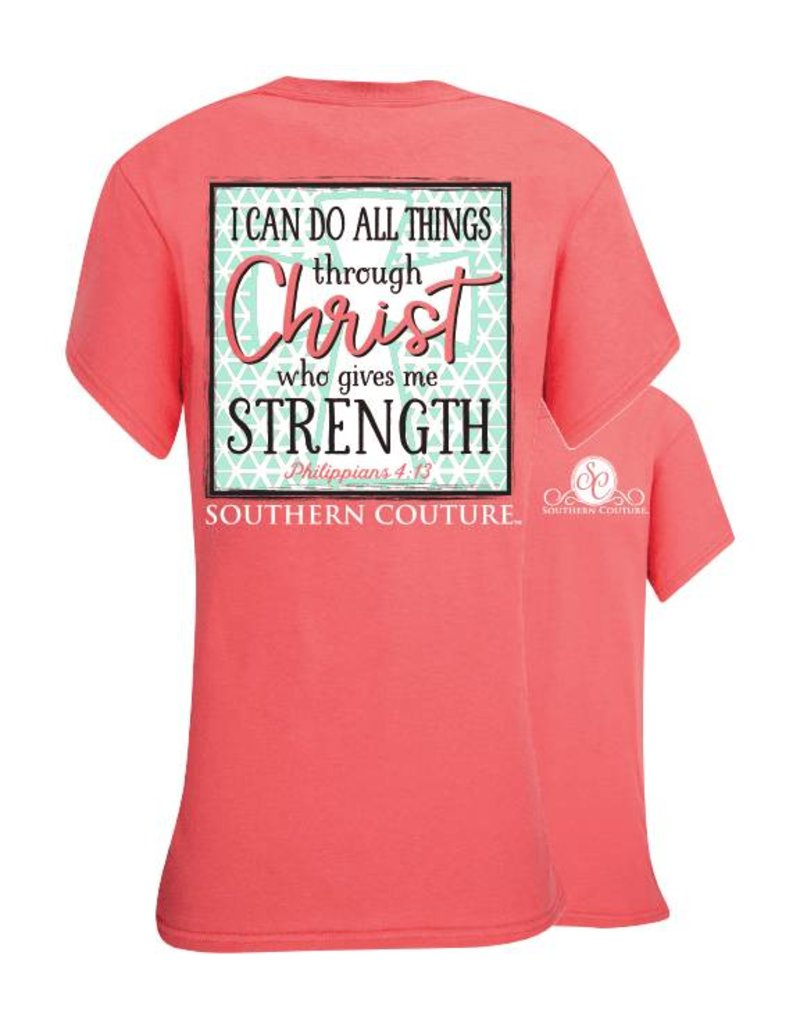 Southern Couture Southern Couture Short Sleeve Tee- Do All Things