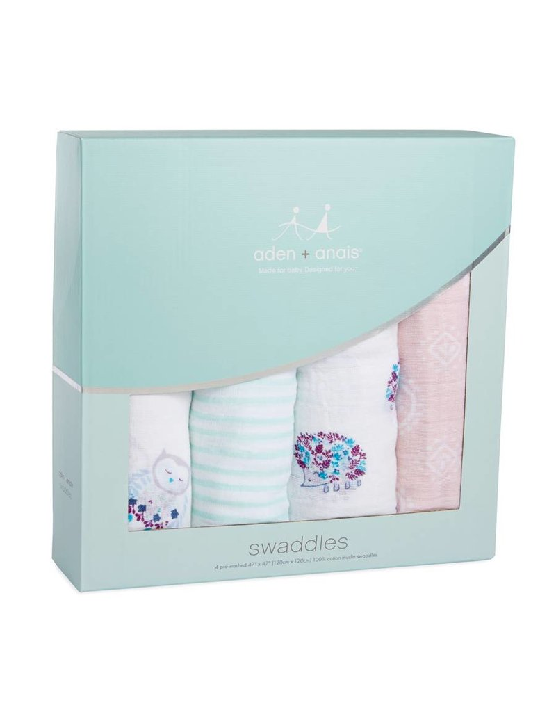 Aden + Anais Aden + Anais Classic Swaddle Blankets- Thistle