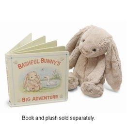 JellyCat Bashful Bunny Big Adventure Book