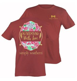 SS Simply Southern S/S Tee- With Love