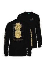 SS Simply Southern Long Sleeve Tee- Pineapple 2XL