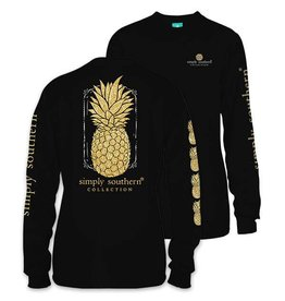 SS Simply Southern L/S Tee- Pineapple 2XL
