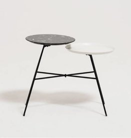 EQ3 Peggy Side Table with Quartz Tray