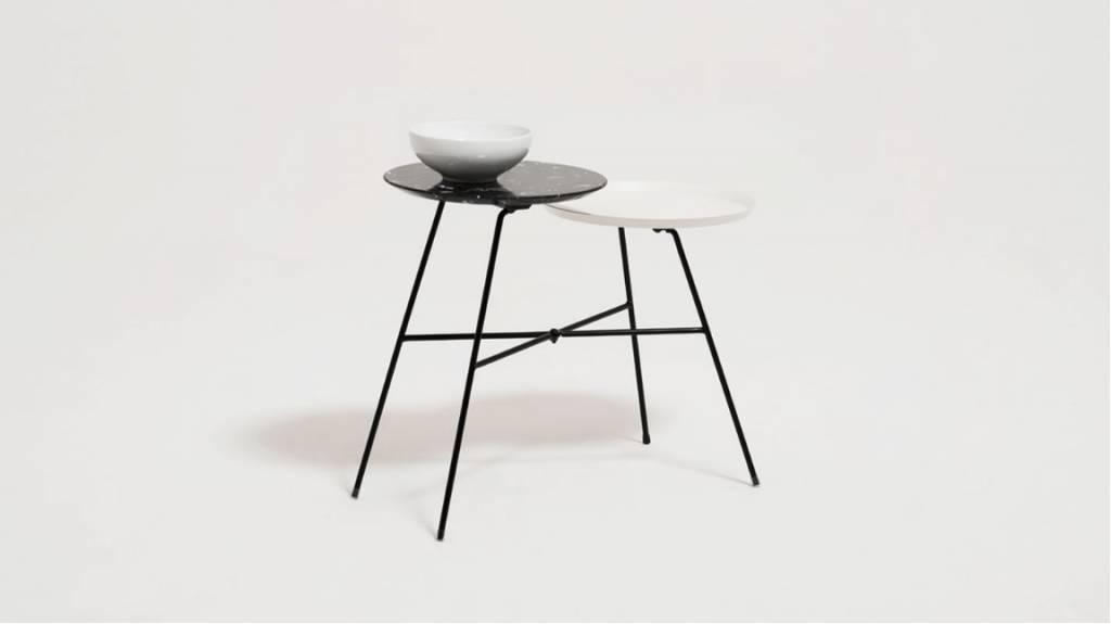 EQ3 Peggy Side Table with Quartz Tray