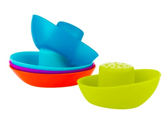 Tomy Fleet Stacking Boats Cups 5 Pc