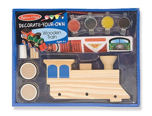 Melissa & Doug Wooden Train Decorate Your Own