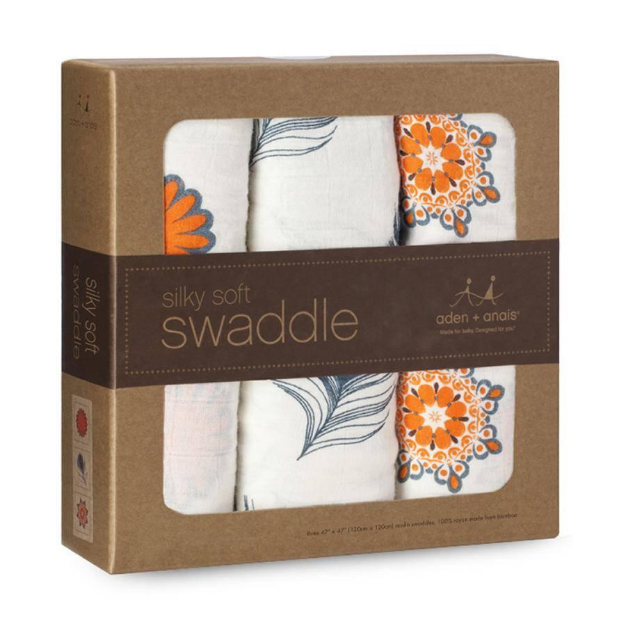 Aden + Anais Mela 3 Pack Silky Soft Swaddles