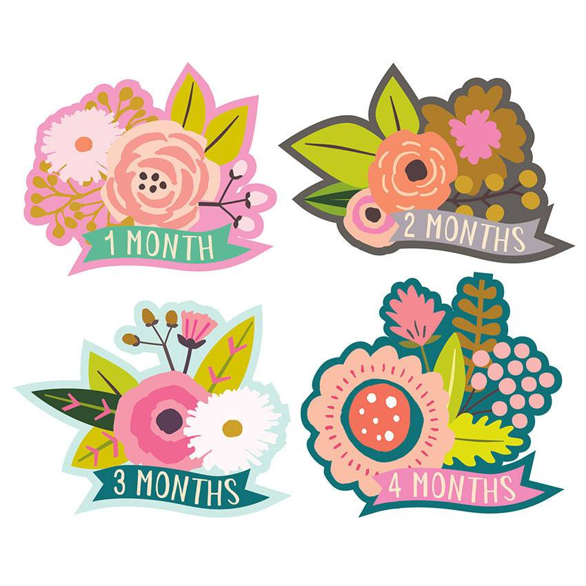 Lucy Darling Little Blossom Monthly Stickers