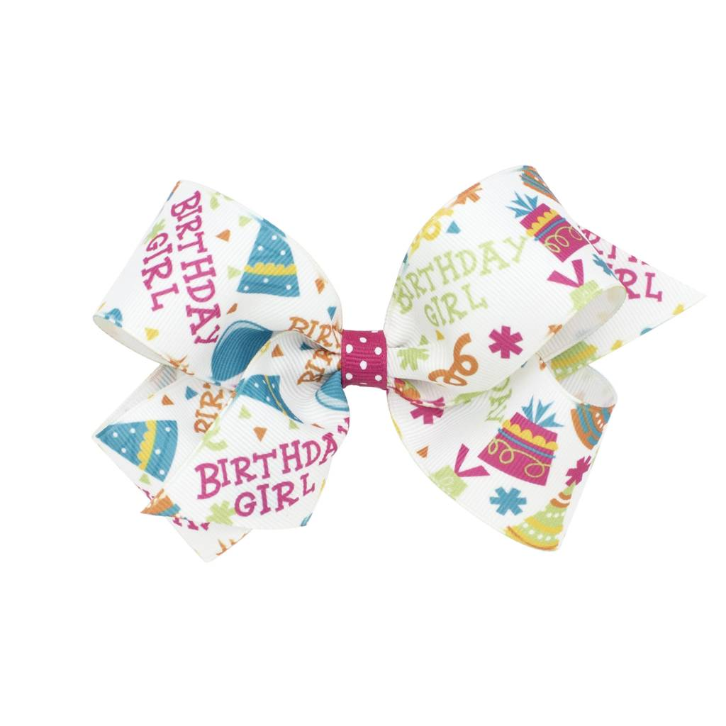 Wee Ones Bows Med Birthday Girl Bow