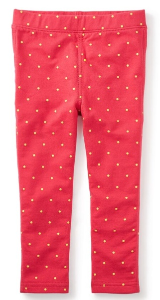 tea collection Sparkle Dot Pants Poinsettia