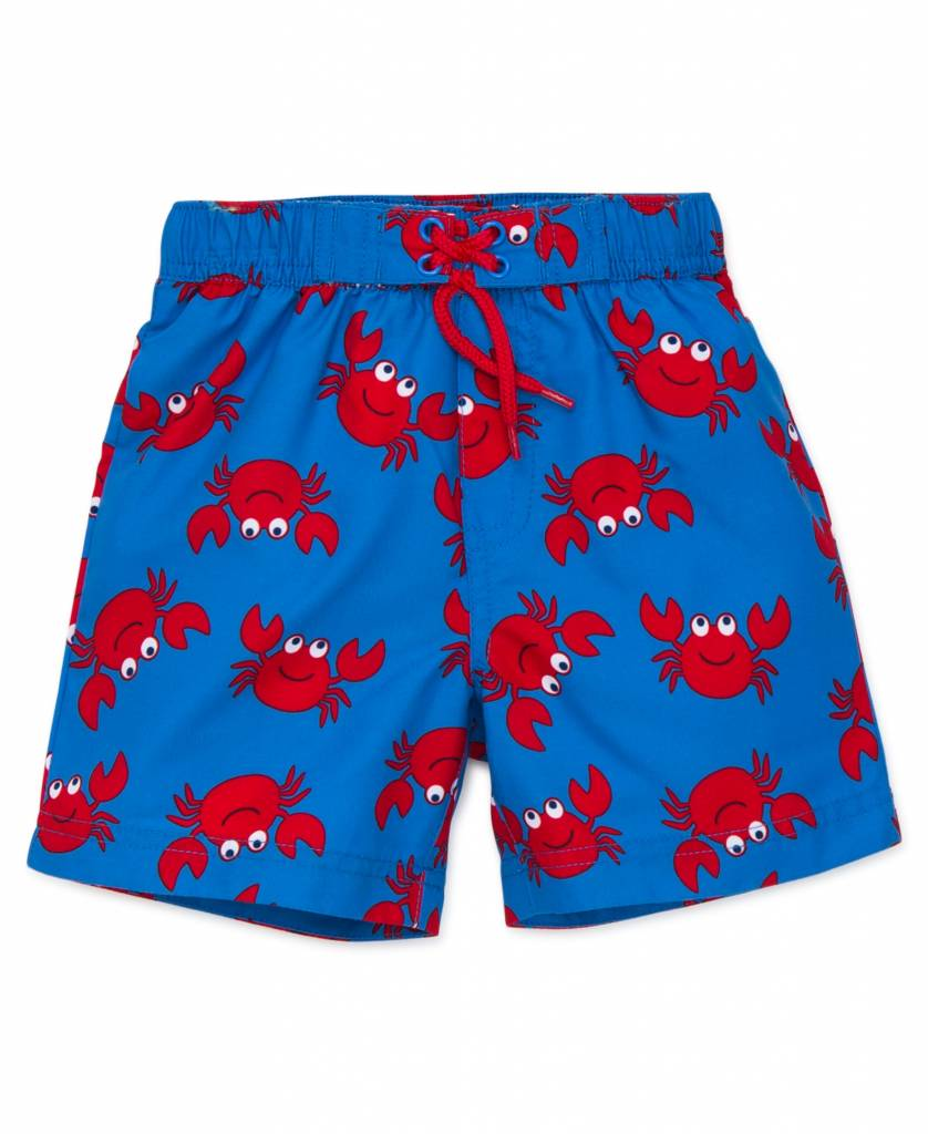 Little Me Crab Swim Trunks
