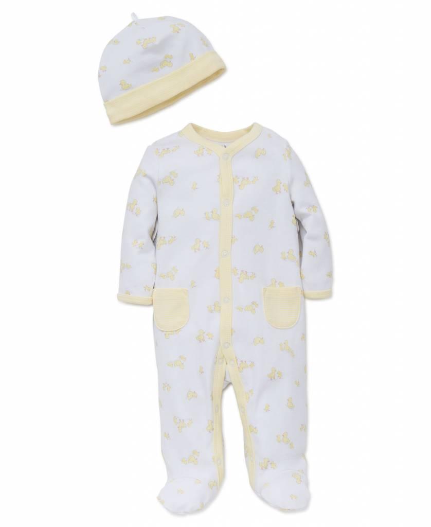 Little Me Cute Ducks Footie/Hat