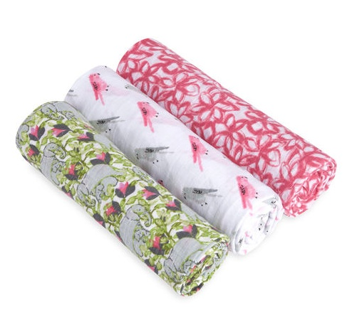 Aden + Anais paradise cove 3-pack swaddles