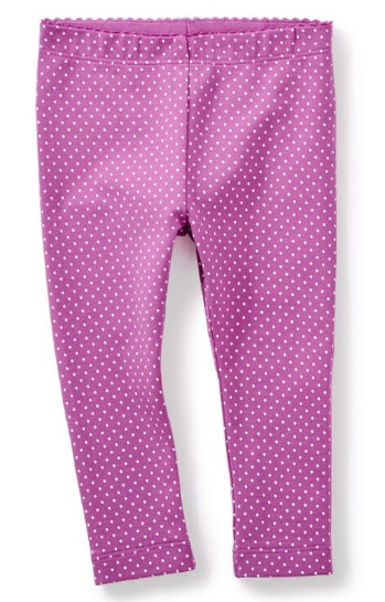 tea collection Pin Dot Baby Leggings Mulberry