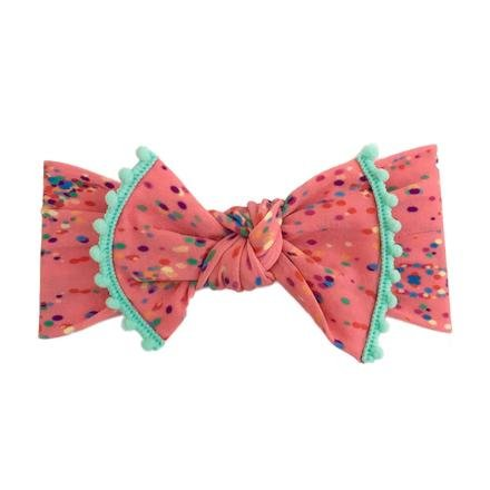Baby Bling Trimmed Printed Knot