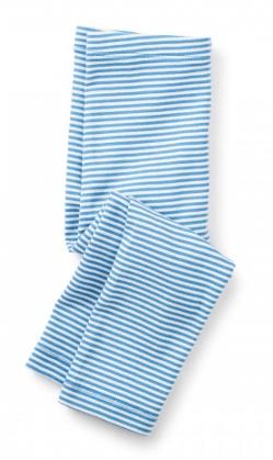 tea collection Striped Capri Leggings Atlas Blue