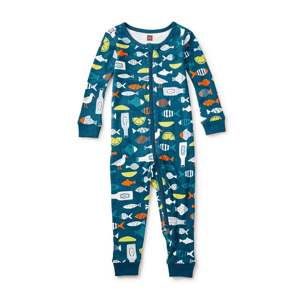 tea collection Fish and Chips Baby Pajamas