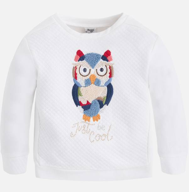 Mayoral Natural owl padded pullover