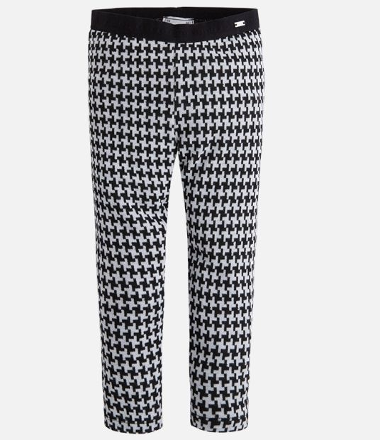 Mayoral Charcoal houndstooth leggings