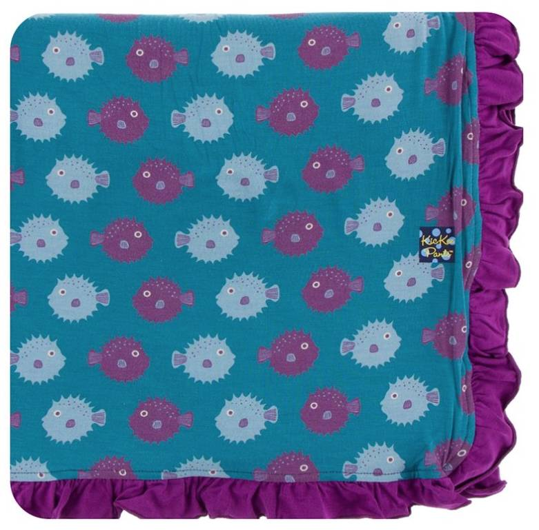Kickee Pants Toddler Blanket Seagrass Puffer